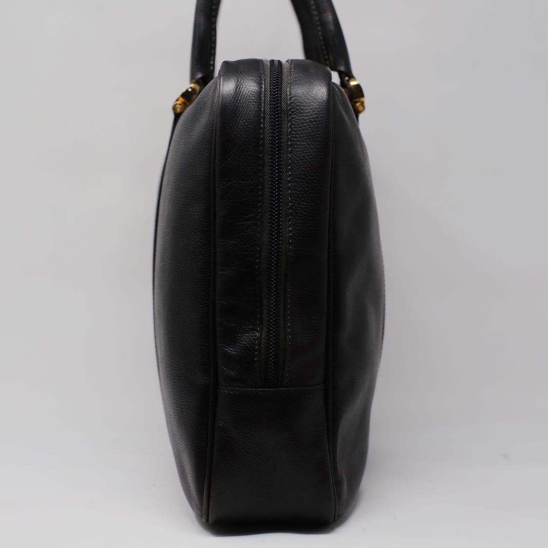 極美品 美品 A4収納 PC収納 LOEWE ロエベ ビジネスバッグ ブリーフケース 25万 メンズ カーフ レザー本革 黒 ブラック バッグ ビンテージ_画像3