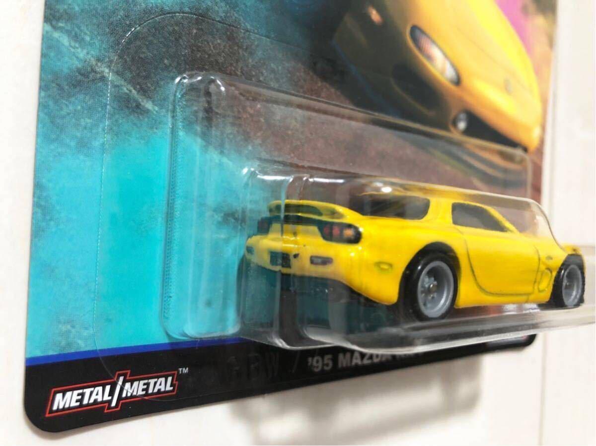 ★日本未発売★ '95 Mazda RX-7 マツダ FD FC Street Tuners ホットウィール Retro Entertainment RLC Real Riders リアルライダー_画像3