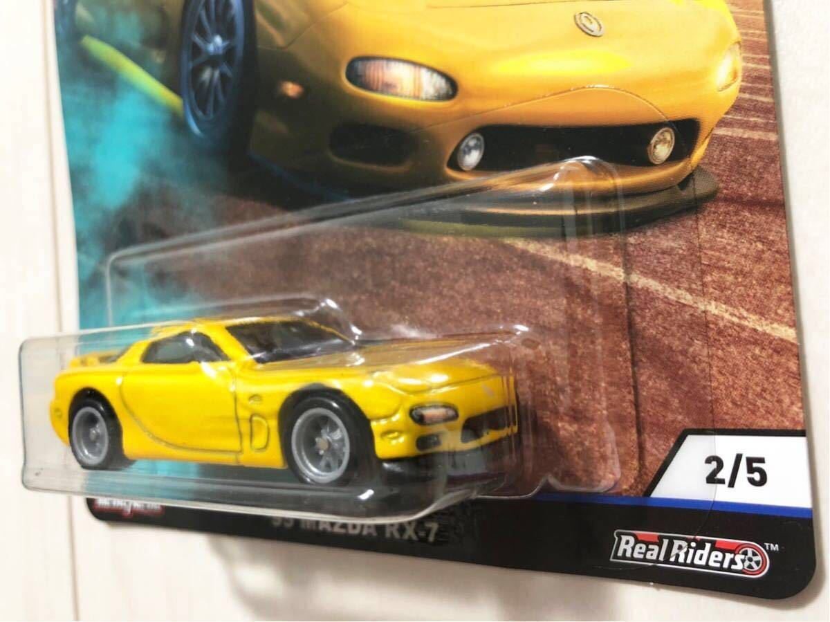 ★日本未発売★ '95 Mazda RX-7 マツダ FD FC Street Tuners ホットウィール Retro Entertainment RLC Real Riders リアルライダー_画像4