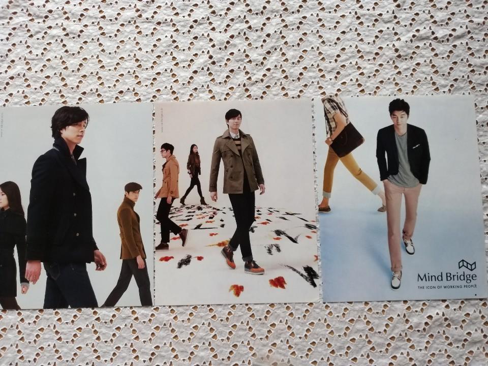 Mind Bridge THE ICON OF WORKING PEOPLE外◆コン・ユ◆Gong Yoo◆韓国 雜誌 3枚。