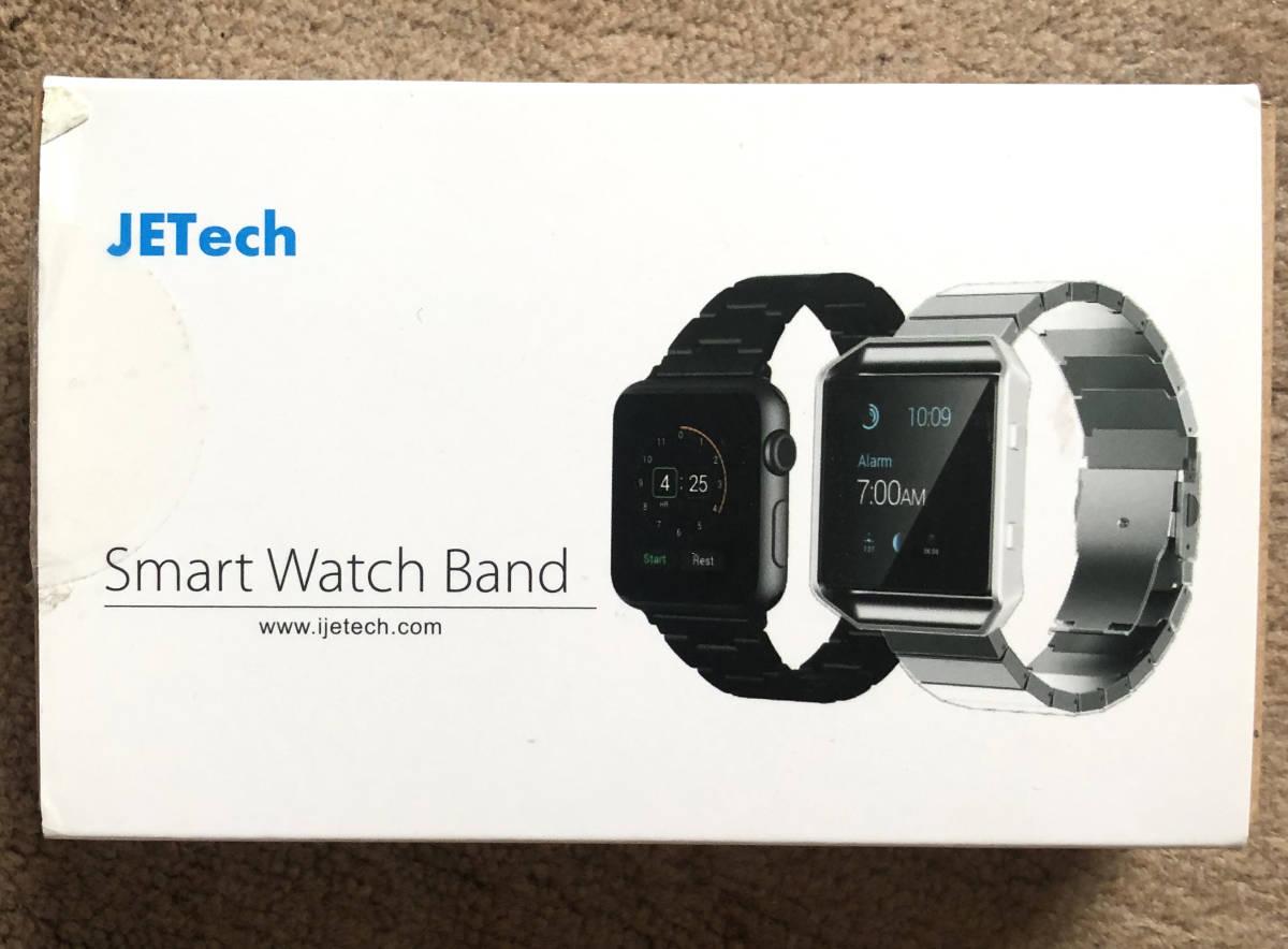 新品 JEDirect Apple Watch 用バンド 42mm Series 1 2 3 4対応 ステンレス留め金製 ブラック