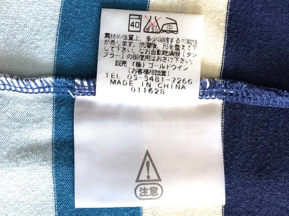 ノースフェイス NT32129 マルチカラー ボーダー柄 半袖Tシャツ メンズ Mサイズ THE NORTH FACE_画像5