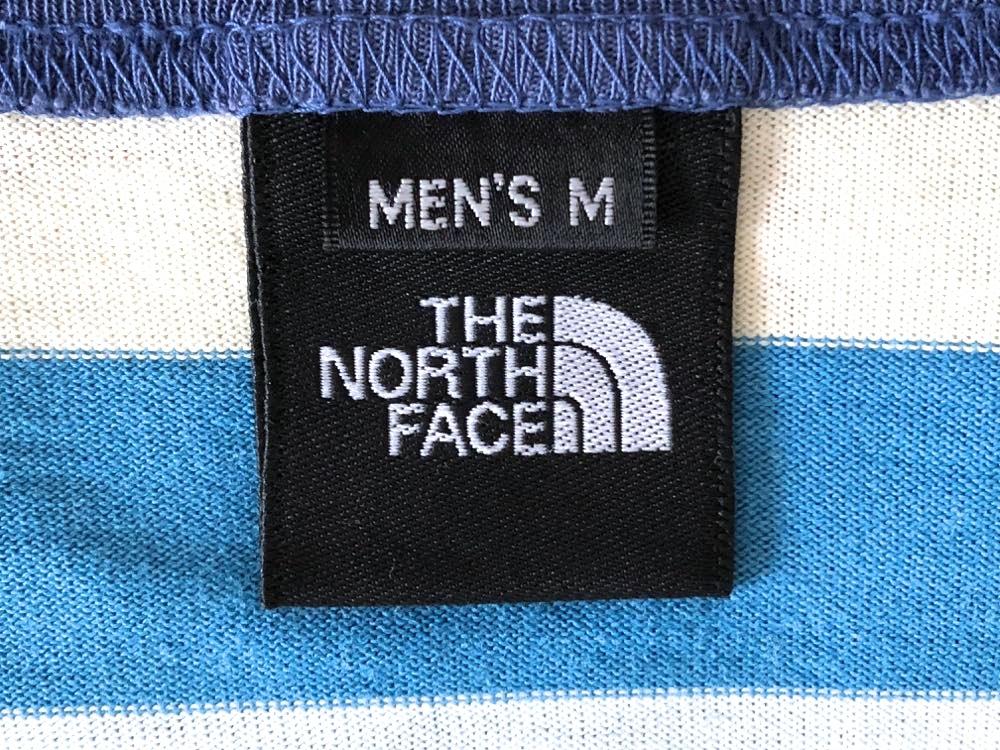 ノースフェイス NT32129 マルチカラー ボーダー柄 半袖Tシャツ メンズ Mサイズ THE NORTH FACE_画像3