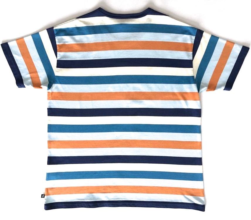 ノースフェイス NT32129 マルチカラー ボーダー柄 半袖Tシャツ メンズ Mサイズ THE NORTH FACE_画像2