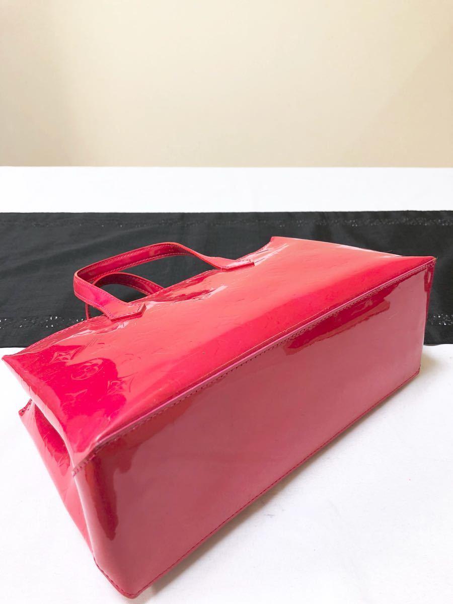 超美品 ルイヴィトン LOUIS VUITTON モノグラム ヴェルニ ウィルシャー バッグ ローズポップ_画像4