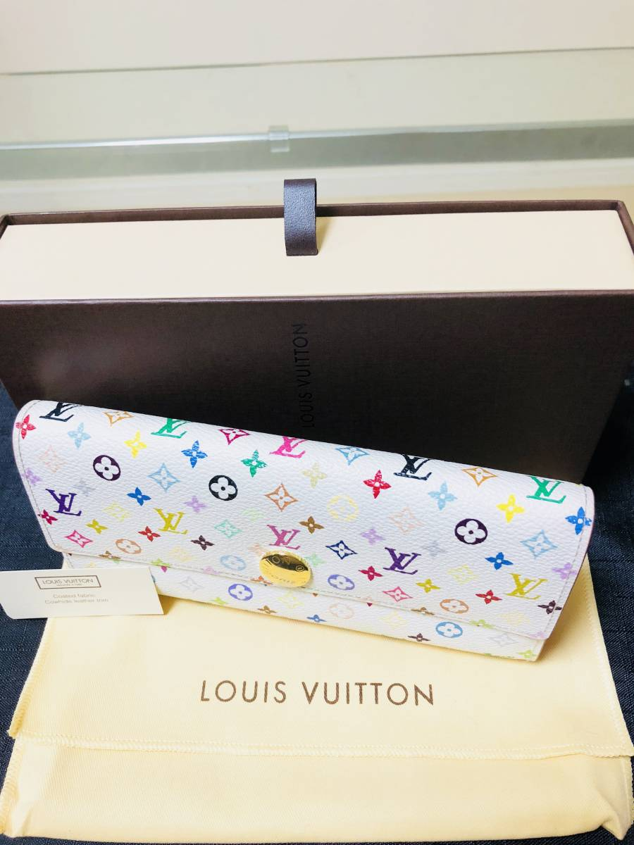 ◆ 超美品 ◆箱付き! ルイヴィトン LOUIS VUITTON マルチカラー ファスナー 長財布_画像2