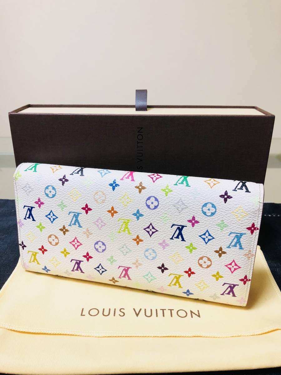 ◆ 超美品 ◆箱付き! ルイヴィトン LOUIS VUITTON マルチカラー ファスナー 長財布_画像3