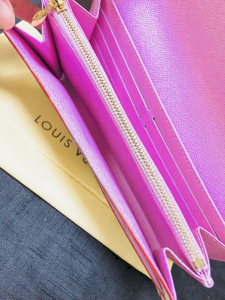 ◆ 超美品 ◆箱付き! ルイヴィトン LOUIS VUITTON マルチカラー ファスナー 長財布_画像5