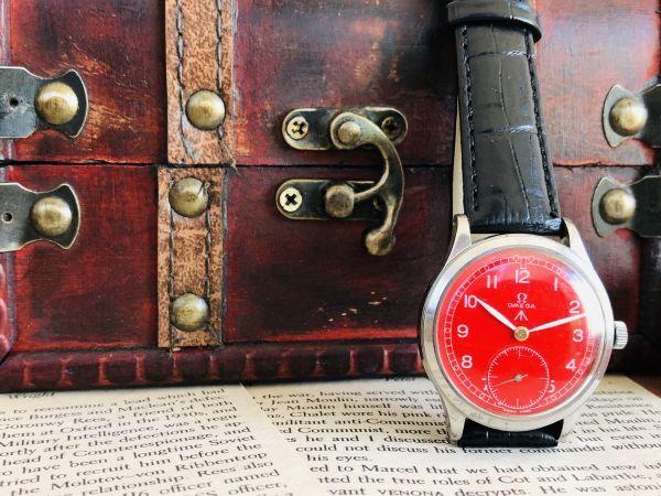 ■激レア!動作良好■高級/オメガ Ω【OMEGA】手巻きメンズ腕時計/1940'sビンテージ/アンティークウォッチ/35㎜/Cal.30T2/30㎜キャリバー_画像6