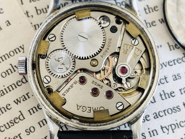 ■激レア!動作良好■高級/オメガ Ω【OMEGA】手巻きメンズ腕時計/1940'sビンテージ/アンティークウォッチ/35㎜/Cal.30T2/30㎜キャリバー_画像8