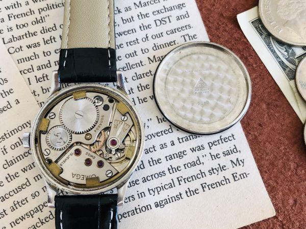■激レア!動作良好■高級/オメガ Ω【OMEGA】手巻きメンズ腕時計/1940'sビンテージ/アンティークウォッチ/35㎜/Cal.30T2/30㎜キャリバー_画像9