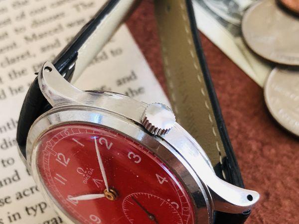 ■激レア!動作良好■高級/オメガ Ω【OMEGA】手巻きメンズ腕時計/1940'sビンテージ/アンティークウォッチ/35㎜/Cal.30T2/30㎜キャリバー_画像3