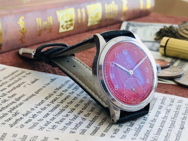 ■激レア!動作良好■高級/オメガ Ω【OMEGA】手巻きメンズ腕時計/1940'sビンテージ/アンティークウォッチ/35㎜/Cal.30T2/30㎜キャリバー_画像5