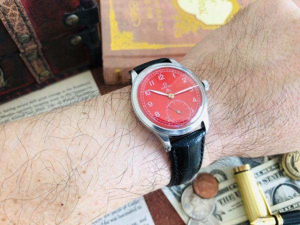 ■激レア!動作良好■高級/オメガ Ω【OMEGA】手巻きメンズ腕時計/1940'sビンテージ/アンティークウォッチ/35㎜/Cal.30T2/30㎜キャリバー_画像10