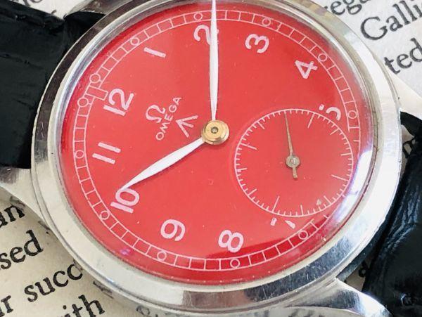 ■激レア!動作良好■高級/オメガ Ω【OMEGA】手巻きメンズ腕時計/1940'sビンテージ/アンティークウォッチ/35㎜/Cal.30T2/30㎜キャリバー_画像4