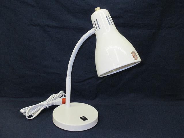 ★YC0557 デスクライト ホワイト E-17 MAX 40W 電気スタンド 卓上ライト 卓上照明 照明器具 ランプ 家具 インテリア 送料無料★_画像2