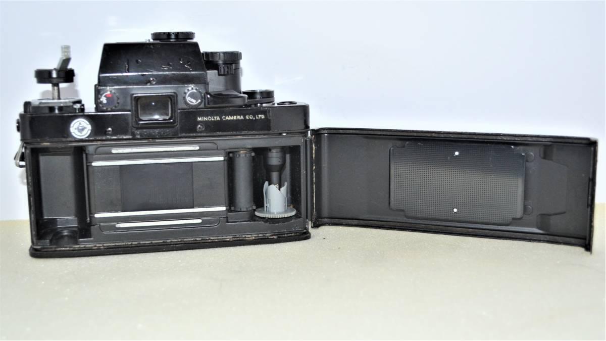 ★希少名機★ 昔の高級一眼レフ MINOLTA ミノルタ X-1 ボディ ブラック 黒 + MD ZOOM ROKKOR 35-70mm F3.5 K398_画像9