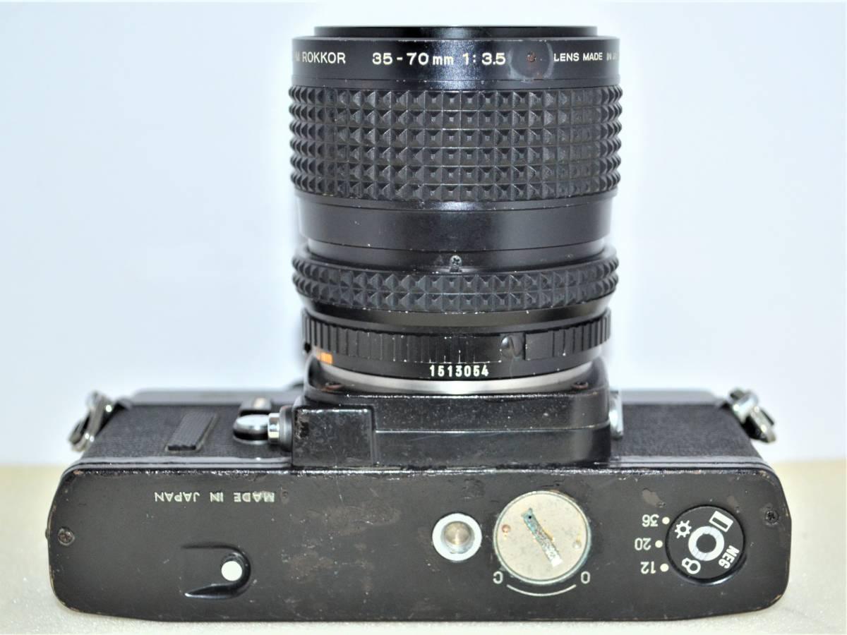 ★希少名機★ 昔の高級一眼レフ MINOLTA ミノルタ X-1 ボディ ブラック 黒 + MD ZOOM ROKKOR 35-70mm F3.5 K398_画像3
