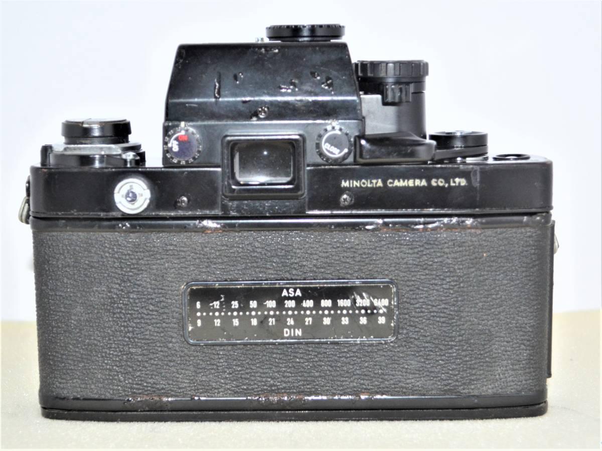 ★希少名機★ 昔の高級一眼レフ MINOLTA ミノルタ X-1 ボディ ブラック 黒 + MD ZOOM ROKKOR 35-70mm F3.5 K398_画像4