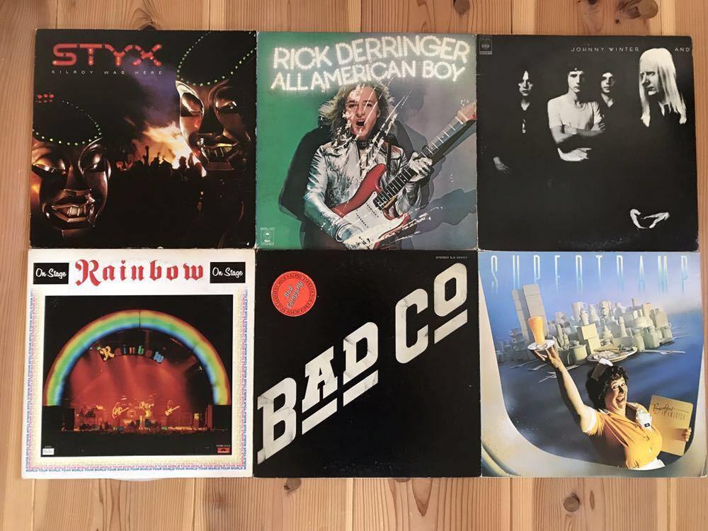 洋楽 ハードロック レコード 豪華 まとめて 20枚 セット / Freddie Mercury BAD COMPANY Thin Lizzy ZZTop GARY MOORE(楽譜付)他_画像2