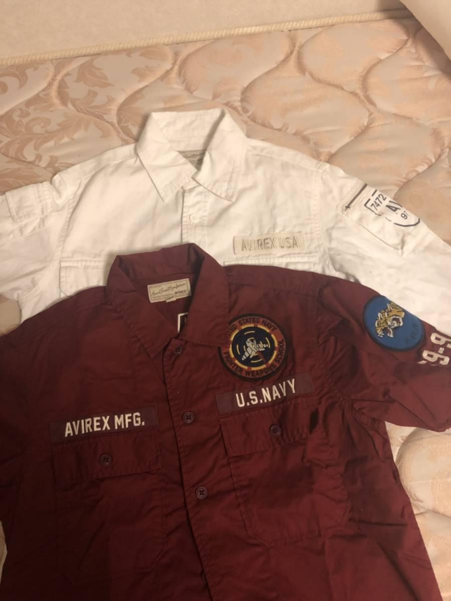 avirex 半袖 長袖 シャツ 中古 美品 2枚