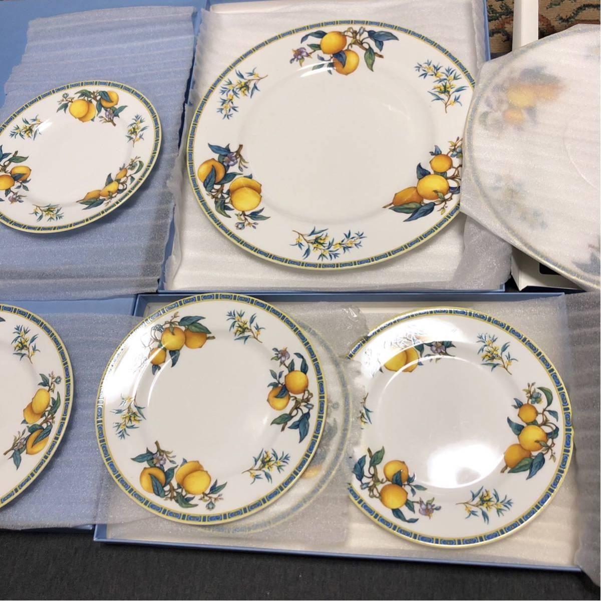 WEDGWOOD ウェッジウッド CITRONS 1993 シトロン レモン 皿 プレート 大皿2枚 小皿5枚_画像2