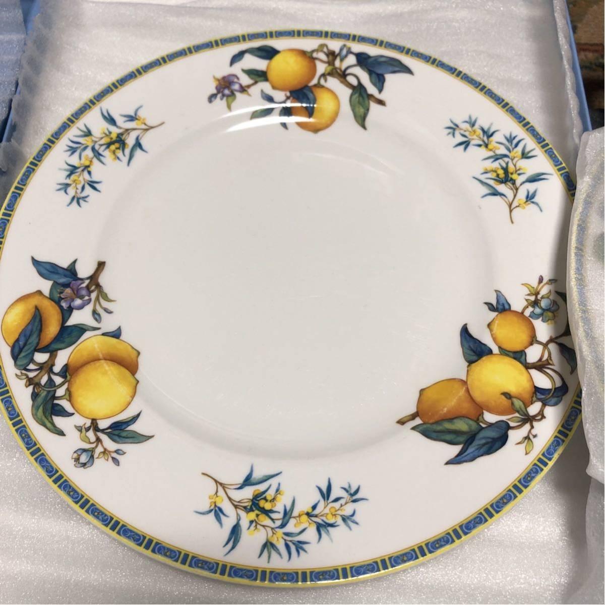 WEDGWOOD ウェッジウッド CITRONS 1993 シトロン レモン 皿 プレート 大皿2枚 小皿5枚_画像3