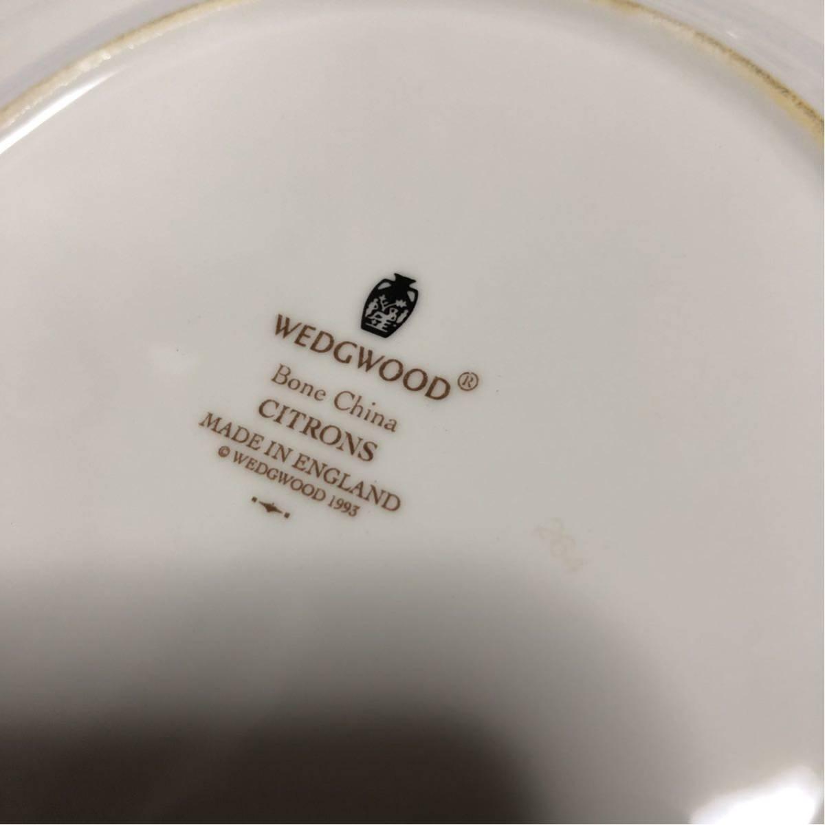 WEDGWOOD ウェッジウッド CITRONS 1993 シトロン レモン 皿 プレート 大皿2枚 小皿5枚_画像5