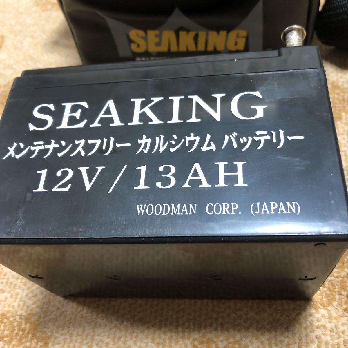 シーキング メンテナンスフリー 電動リール用バッテリー SEAKING 電動リール 魚探 12V/13AH(船釣り、電動、魚探、電源)_画像3