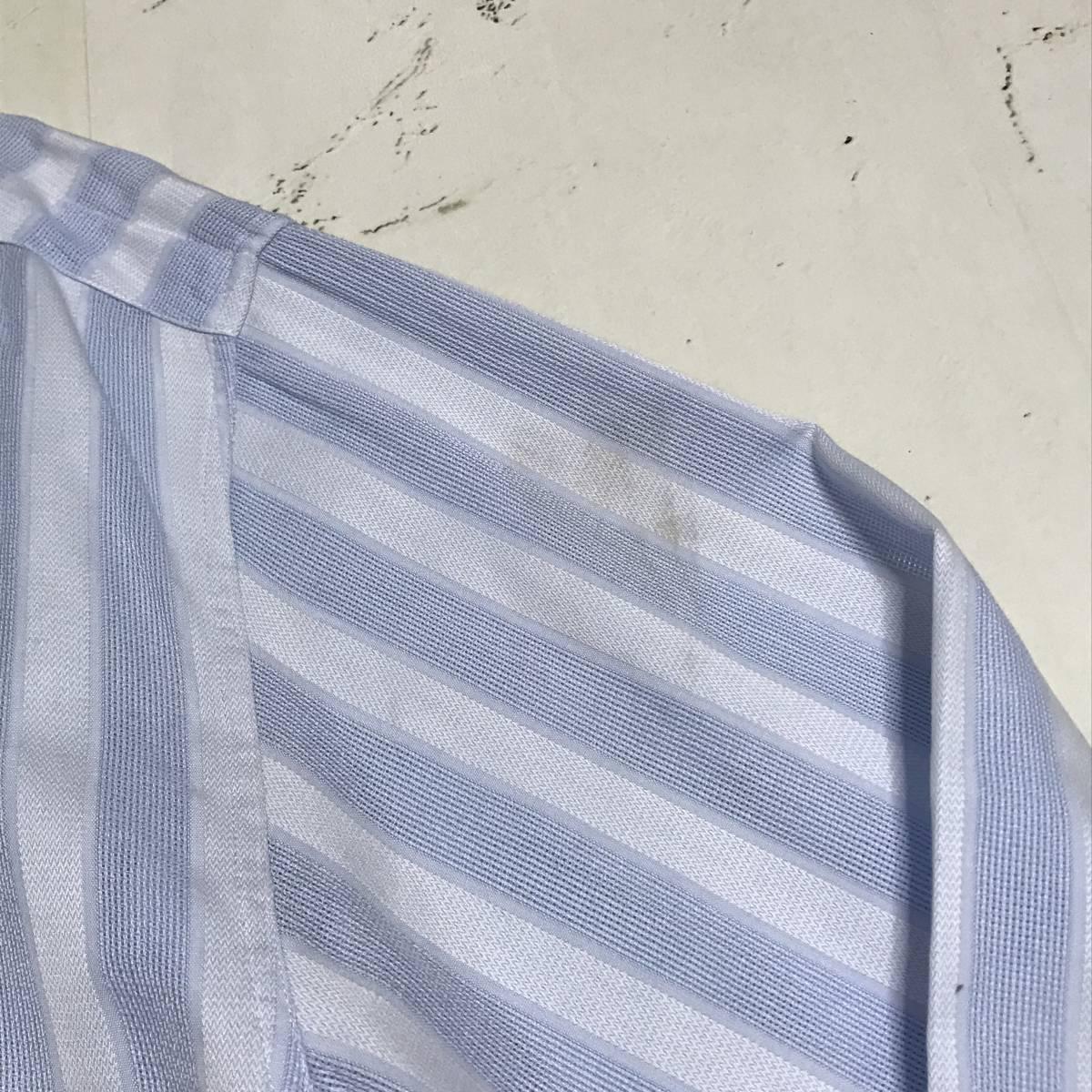 ★Gianni Versace/ヴェルサーチ★メンズ ストライプ柄 長袖 シャツ レギュラーカラー ブロード 水色 ライトブルー ドレスシャツ ワイシャツ_画像9