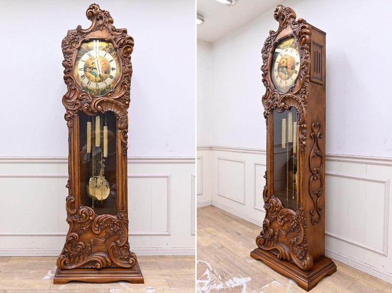 NK213 最高級 展示品 ドイツ製ムーブメント ホールクロック グランドファーザークロック 置時計 柱時計 ウエストミンスターチャイム_画像1