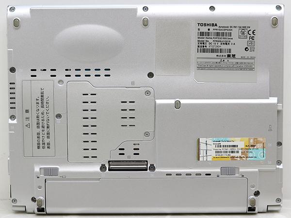 ◎ジャンク扱◎Windows10Proアップグレード済12.1ワイドノート◎Core2Duo U7500/1.5GB/80GB◎dynabook SS RX1 _画像5