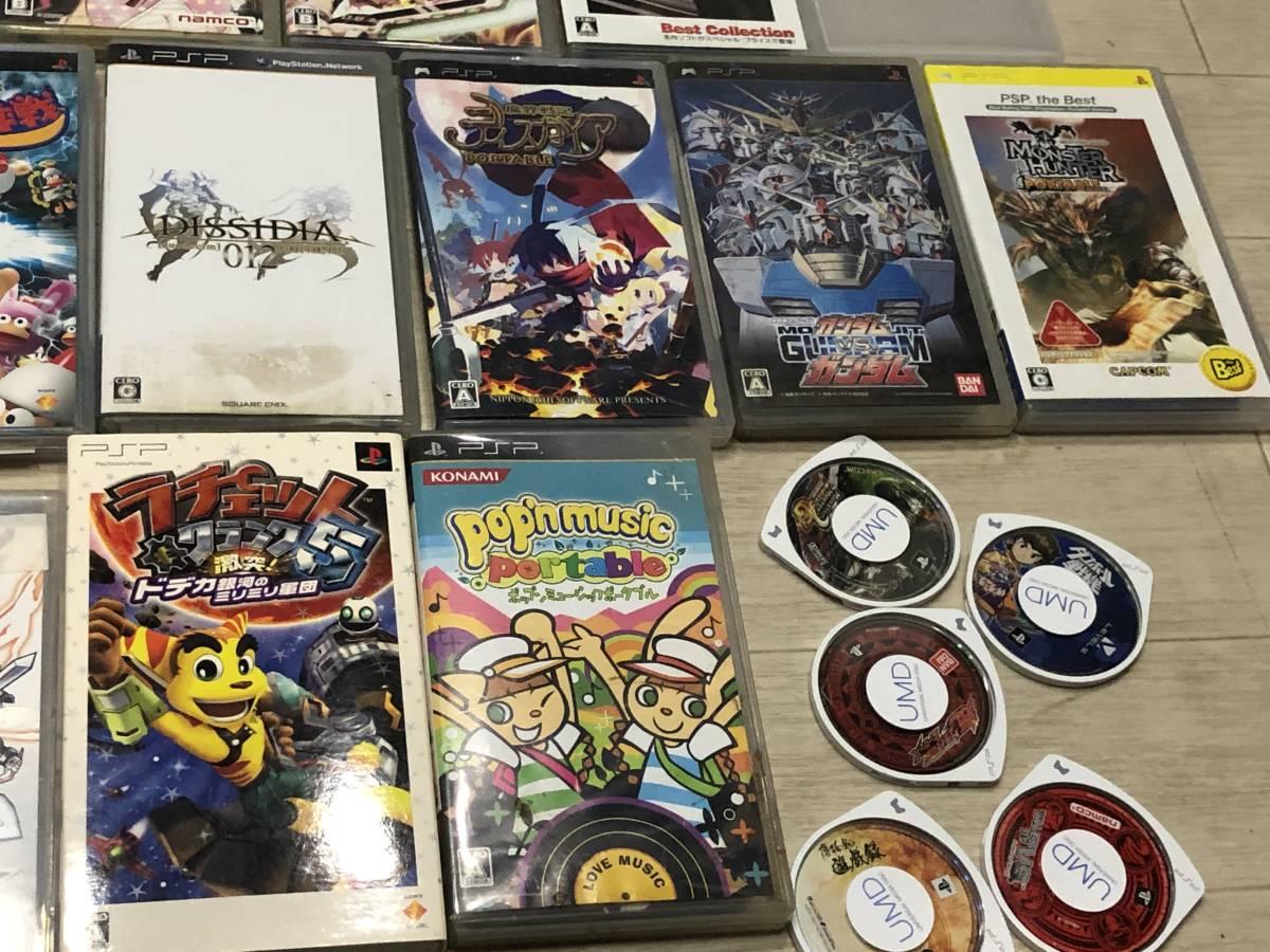 Lot of 68 SONY PSP games FF Gundam etc. Sony PSP ゲームソフト 英雄伝説 FF 他 video games 68本 まとめて_画像3