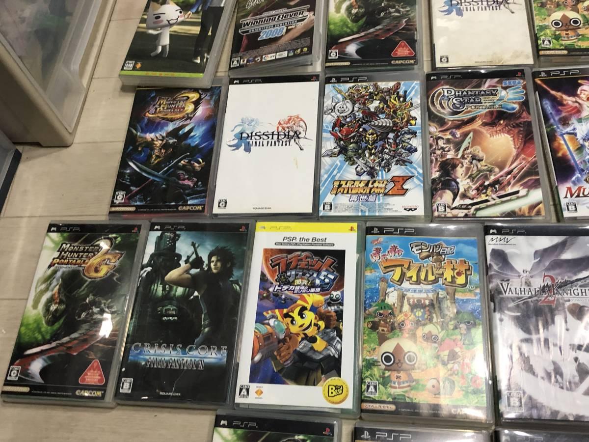 Lot of 68 SONY PSP games FF Gundam etc. Sony PSP ゲームソフト 英雄伝説 FF 他 video games 68本 まとめて_画像4