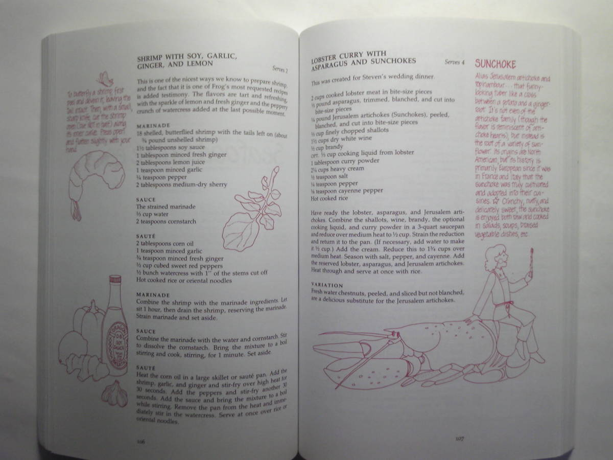 英語/料理「The Frog Commissary Cookbook/カエル食堂のクックブック」Steven Poses他著