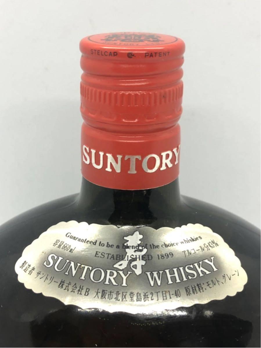 1908#### SUNTORY OLD WHISKY サントリー ウイスキー 洋酒 古酒 660ml 43度 未開栓_画像3