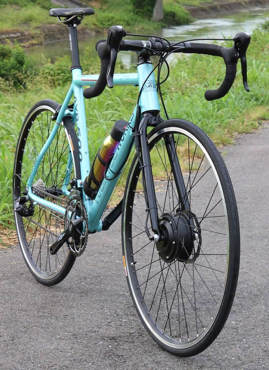 1円新車!! アルミニウム電動アシスト ブルートゥース USB充電 ロードバイク シマノSORA 18段変速