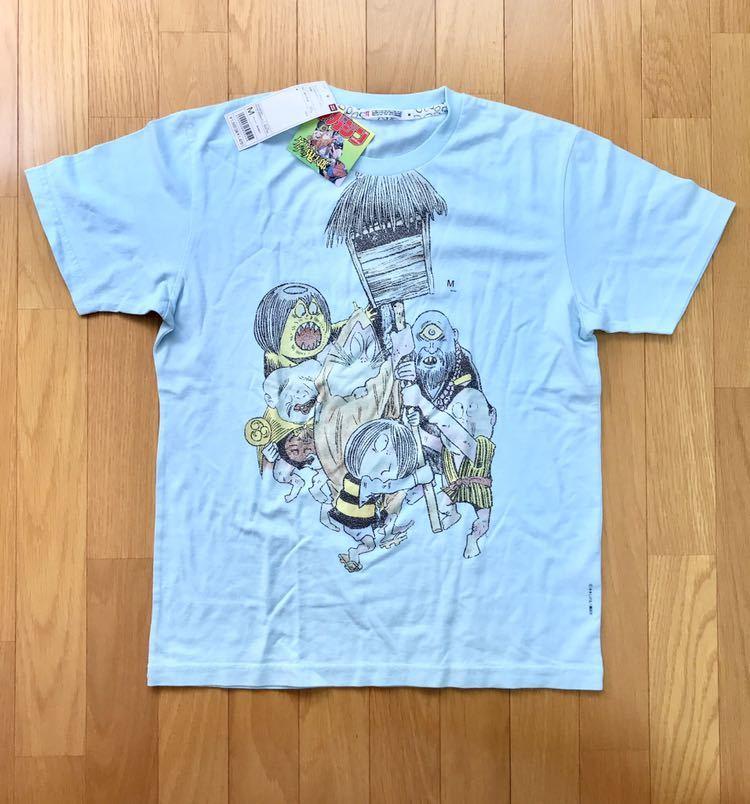 ★新品★ゲゲゲの鬼太郎★Tシャツ★水色★水木しげる×ユニクロ×サンデーマガジンコラボ★
