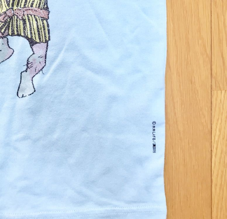 ★新品★ゲゲゲの鬼太郎★Tシャツ★水色★水木しげる×ユニクロ×サンデーマガジンコラボ★_画像3
