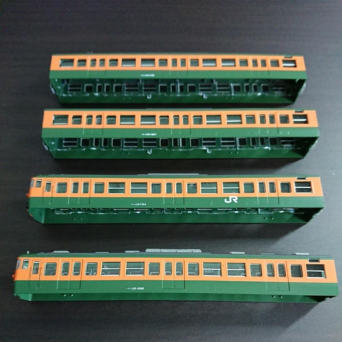 ★tomix(トミックス)92839 115系近郊電車(湘南色)4両編成ボディのみ_画像4