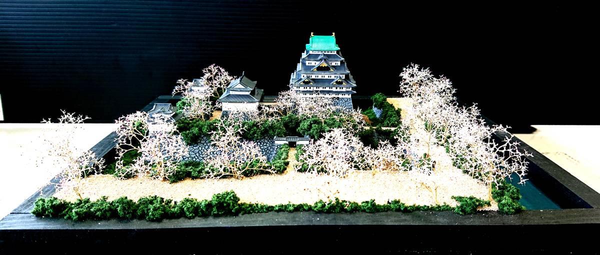 名古屋城 慶長創建時 ジオラマ 完成品 桜バージョン_画像4