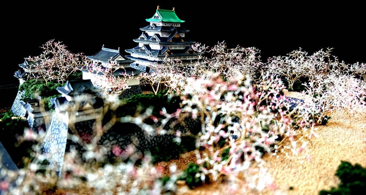 名古屋城 慶長創建時 ジオラマ 完成品 桜バージョン