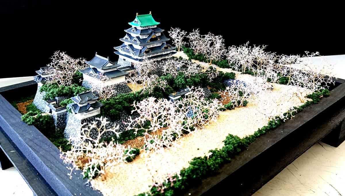 名古屋城 慶長創建時 ジオラマ 完成品 桜バージョン_画像7