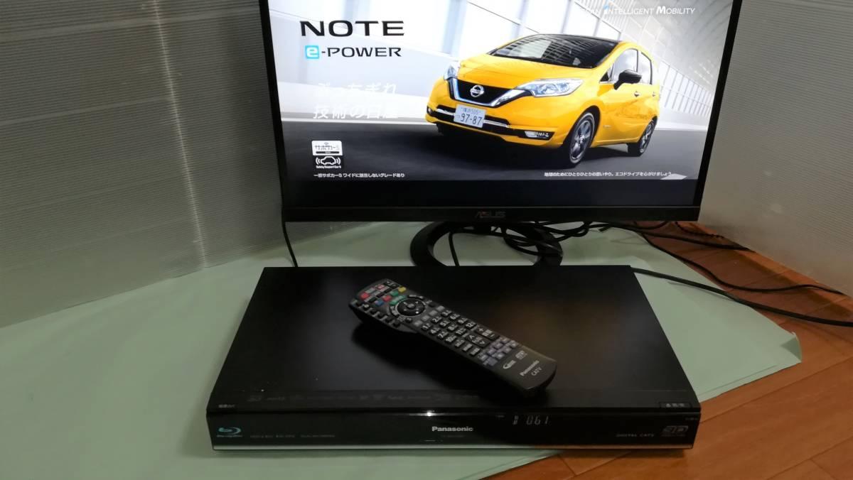 【中古】Panasonic CATV ブルーレイレコーダー TZ-BDT910P 2番組同時録画・BCASカード付 HDD500GB⇒2TB換装済_画像3