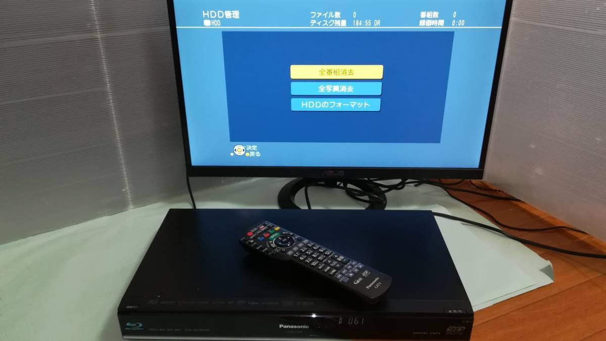 【中古】Panasonic CATV ブルーレイレコーダー TZ-BDT910P 2番組同時録画・BCASカード付 HDD500GB⇒2TB換装済