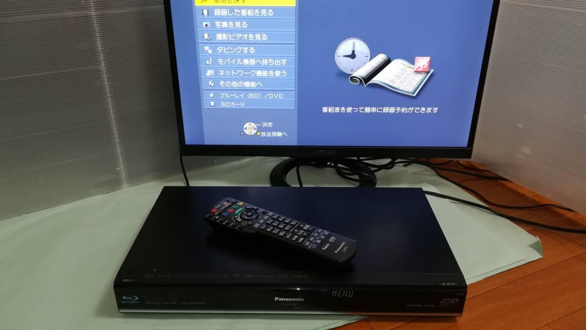 【中古】Panasonic CATV ブルーレイレコーダー TZ-BDT910P 2番組同時録画・BCASカード付 HDD500GB⇒2TB換装済_画像5
