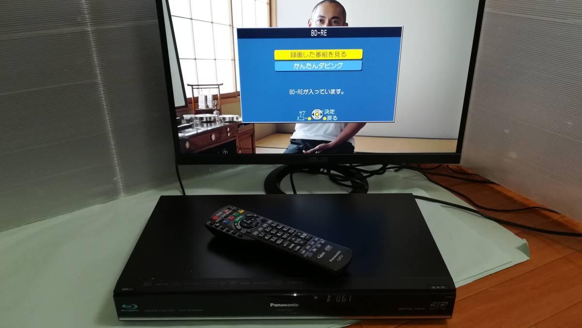 【中古】Panasonic CATV ブルーレイレコーダー TZ-BDT910P 2番組同時録画・BCASカード付 HDD500GB⇒2TB換装済_画像6