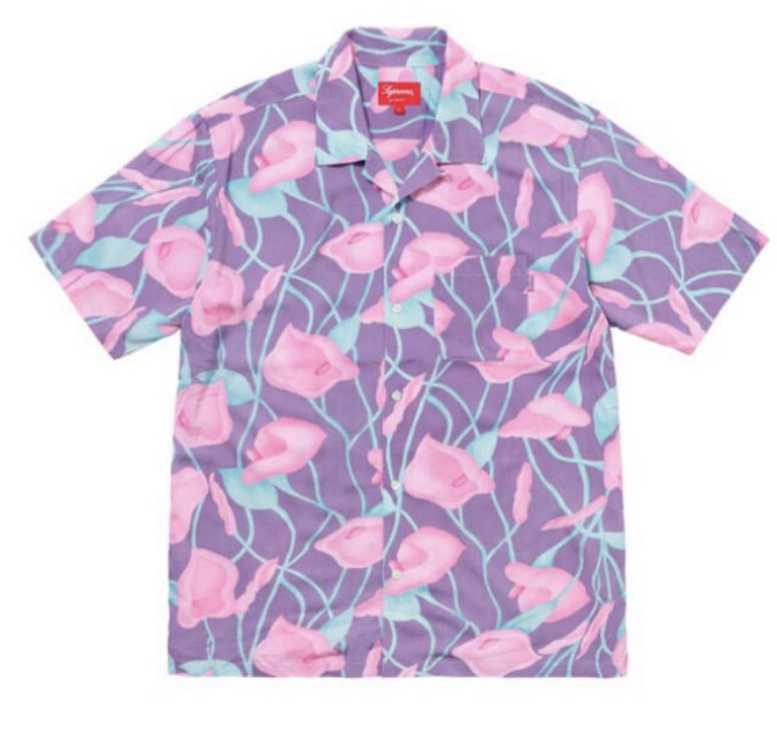 格安スタート Supreme Lily Rayon Shirt size XL 確実正規 18ss