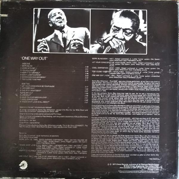 輸入盤(U.S)LP Sonny Boy Williamson One Way Out USA ワン・ウェイ・アウト サニー・ボーイ・ウィリアムスン_画像2