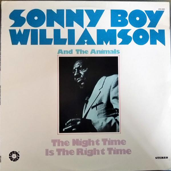 輸入盤(U.S)LP Sonny Boy Williamson and the animals The Night Time Is the Right Time サニー・ボーイ・ウィリアムスン